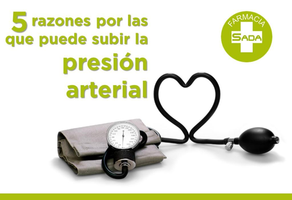5 razones por las que puede subir la presión arterial
