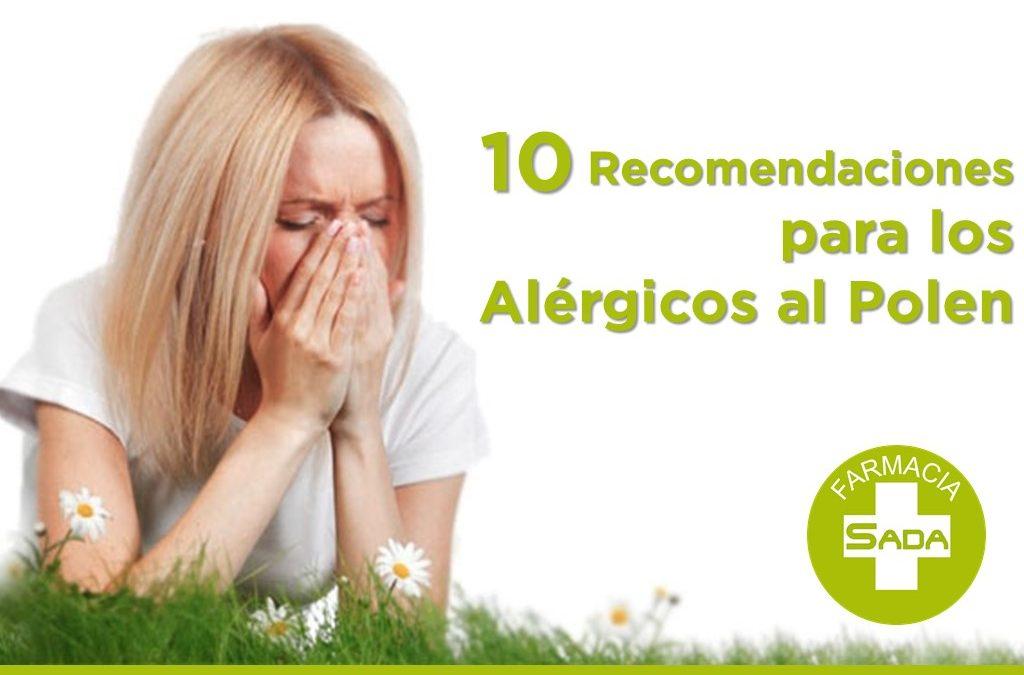 10 recomendaciones para los alérgicos al polen