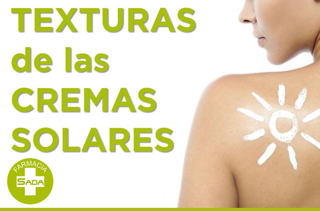 Texturas de las Cremas Solares