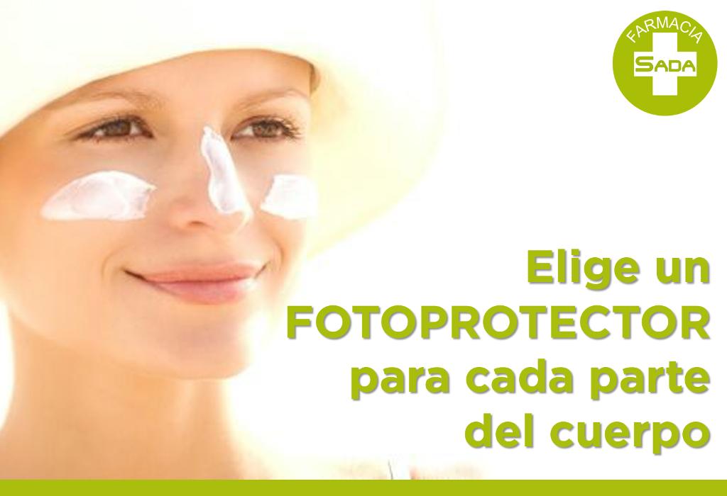 Elige un fotoprotector para cada parte del cuerpo