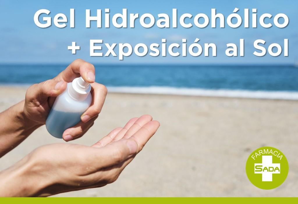 Gel Hidroalcohólico + Exposición al Sol